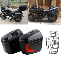 2x Motorcycle 23L Hard Sidecases Luggage Pannier Cargo Saddlebags Side Box For Suzuki Kawasaki KTM Honda Triumph Yamaha FZ YZ F