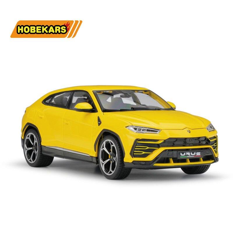Bburago Diecast Model Car 1:18 SUV Urus Off-road Metal Alloy High Simulation Cars With Base Boys Toys Gifts For Boy Men