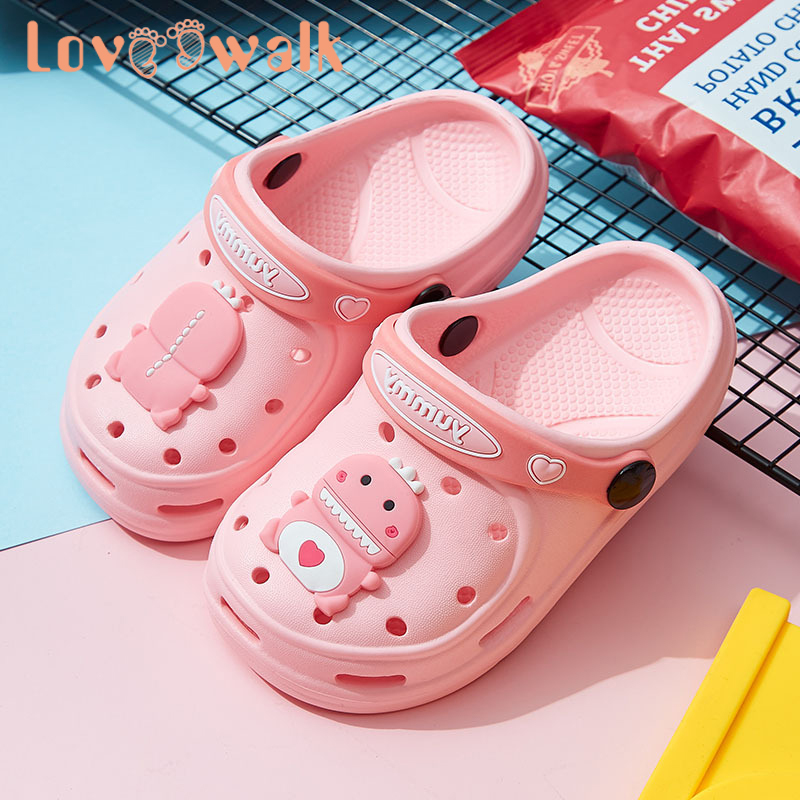 Toddler Girl Shoes Slippers Cute Dinosaur EVA Summer Kids Beach Slipper Anti Slip Children Garden Shoes Outdoor Baby Water Shoes