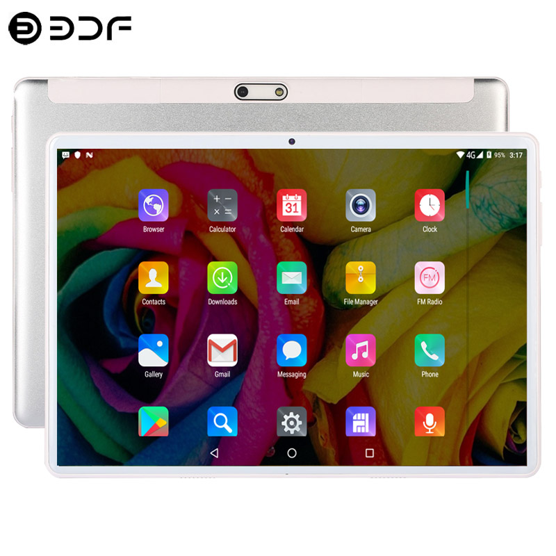 2.5D Steel Screen 10.1 Inch Tablet PC Android 9.0 TEN Core 4G Phone Call 8GB+128GB ROM Bluetooth Wi-FI Tablet PC+Keyboard
