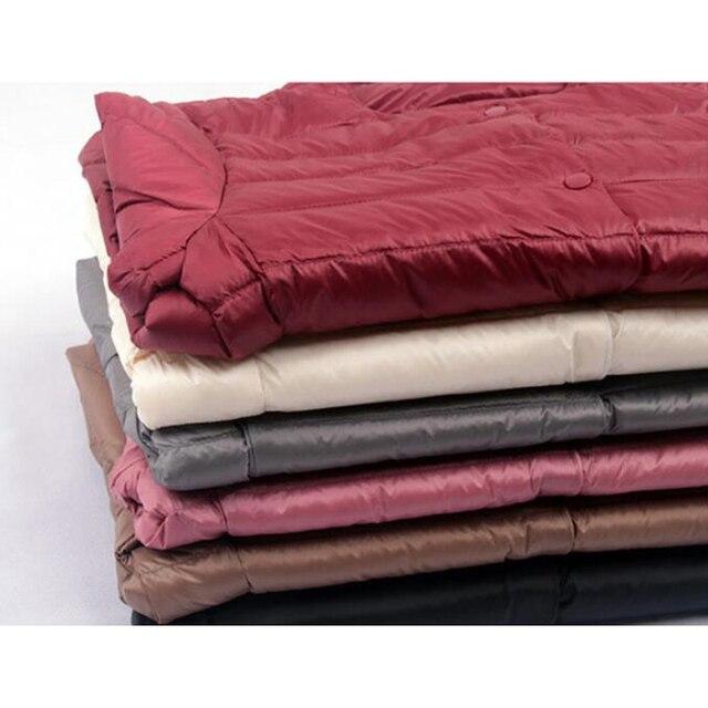 SEDUTMO Winter  Womens Down Coat Long Hooded Vest Ultra Light Waistcoat Autumn Slim Jacket Parkas ED915 5