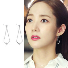 Why Secretary King Smile Park Min Young Korean Drama Ear piercing Line Personality Earrings For Women Girls Pendientes