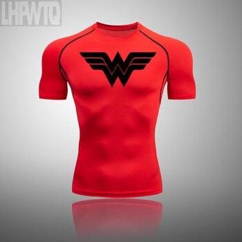 Wonder Woman Men's full Suit Compression Sport Suit Gym joggers Running Short sleeve Shirts leggings Basketball sportwear 27