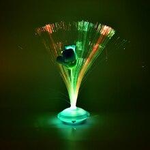 1 шт. Красочный Светодиодный светильник для украшения из оптического волокна цветок Роза Ваза Цветок ночной Светильник