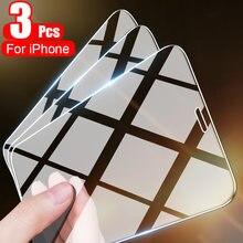 3 pçs vidro temperado no para o iphone 11 12 pro max 12 mini protetor de tela para o iphone x xs max xr 7 8 6 mais vidro protetor
