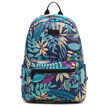 School Bags for Women 2019 Leaf Printing Laptop Backpacks La