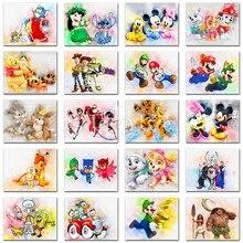 5D Diamond painting Cartoon animal Mickey mouse Winnie Pooh dog Full Square embroidery Cross stitch Round mosaic
