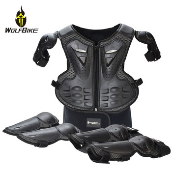 Skateboard Knee Eblow Protector Armor Sets 5-13 Age Child Kids Snowboard Ski Roller Hockey Sports Full Body Protection Suits