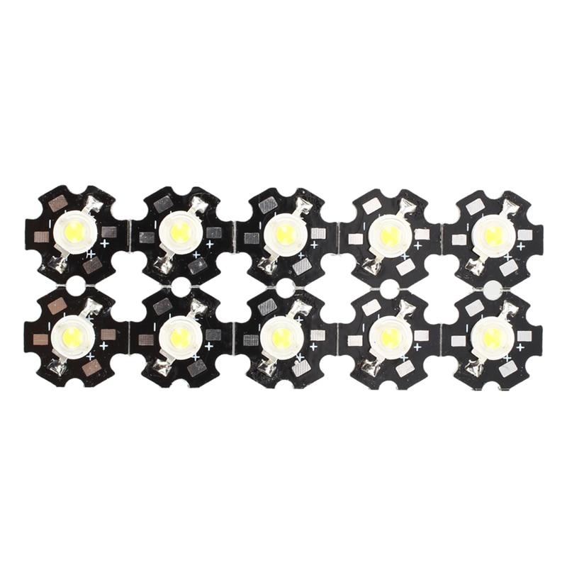 Hot  10pcs 1W High Power Star LED Light Lamp Bulb (White)