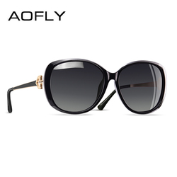 AOFLY Fashion Polarized Sunglasses Women 2020 Luxury BRAND DESIGN Rhinestone Temple Ladies Sun glasses Female Shades Eyewear