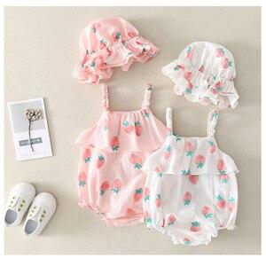 Новая одежда для новорожденных девочек, платья + повязка на голову, 2 предмета, детские летние комбинезоны, комплекты одежды для маленьких де...