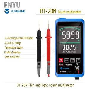 Multímetro DT-20N multímetro táctil HD pantalla LCD de 3,2 pulgadas Pantalla de temperatura AC DC diodo FireWire 100% Original de prueba de frecuencia