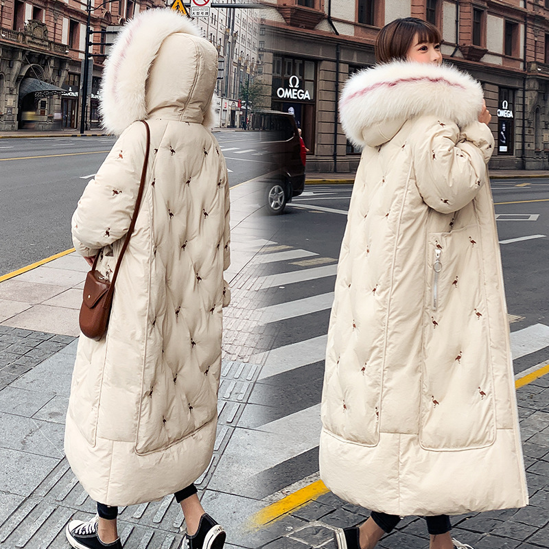 Thick down Jacket Cotton-padded Clothes Women's Long Large Size Loose-Fit Cotton-padded Jacket 2019 New Style Fashion Korean-sty