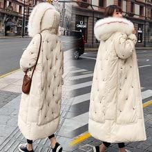 Толстый пуховик, хлопковая стеганая одежда, Женская длинная куртка свободного кроя большого размера, хлопковая стеганая куртка, стиль, мода, корейский стиль