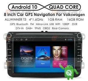 Image 1 - Android10 Auto Radio GPS Multimedia Player Für VW Volkswagen Golf Passat b7 b6 Skoda Sitz Octavia Polo Tiguan Navigation RDS 2Din