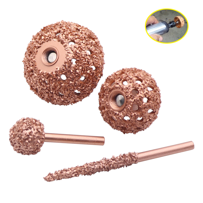 1pc Coarse Grit Buffing Wheel Tungsten Carbide Rasp/Contour Cup W/ Arbor Adaptor Wheel Grind Ball / Pencil Rasp Tire Repair Tool