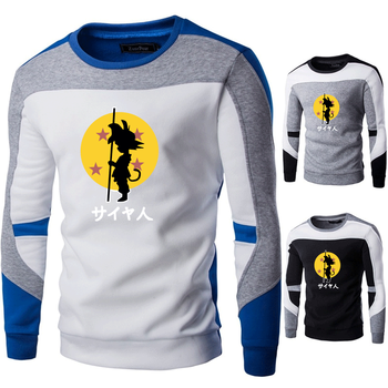 Dragon Ball Print Men's Sweaters Spring Autumn Guys Cotton Hip-hop Patchwork Stitching Sweaters Male Casual Warm Sweater Men майка print bar good guys