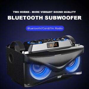 Image 5 - SOAIY S68 Three Speakers Subwoofer Bluetooth Speaker 25W 2000mAh LED Display Premium Portable Wireless Bluetooth Speaker
