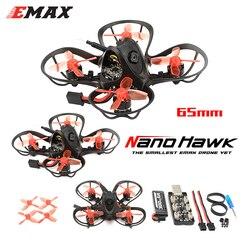 EMAX Nanohawk 65mm 1S Whoop FPV Beginner Indoor Racing Drone FrSky D8 Runcam Nano3 Camera 25mw VTX 5A Blheli_S 5.8G Glasses