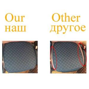 Image 4 - גדול גודל פשתן מושב המכונית כיסוי מגן פשתן קדמי או אחורי מושב אחורי כרית כרית מחצלת משענת עבור אוטומטי פנים משאית Suv ואן
