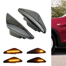 цена на 2PCS LED Dynamic Side Marker Turn signal light lamp Repeater light Flowing Flash for BMW X3 X5 X6 E70 E71 2008-2014 E72 F25