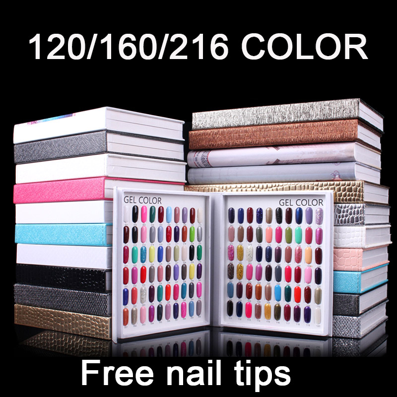120/160/216 Slots Double-Sided Nail Tips Display Book Embedded Professional Model  Nail Salon Display Tools With False Tips
