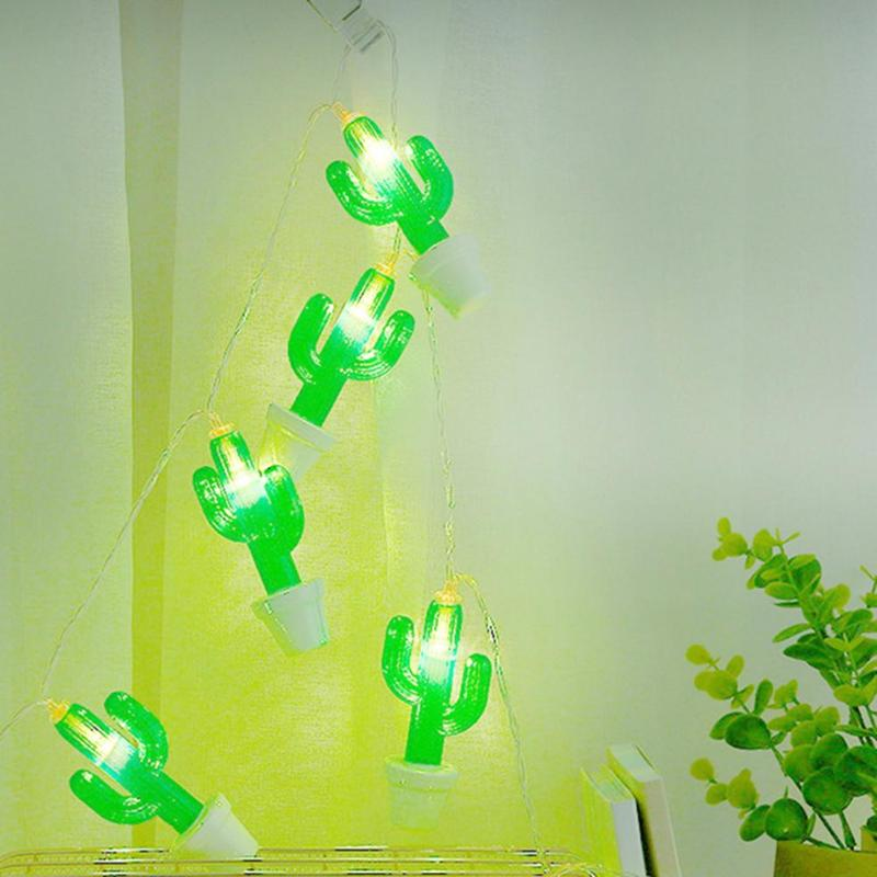 LED Lamp Strings Cactus Shape Garlands Child Bedroom Outdoor KTV Bar Night Decor Low Power Consumption And Power Saving
