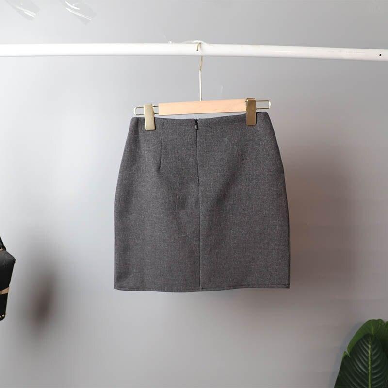 Mozuleva 2020 Retro Solid Blazer Set Single-breasted Jacket & Pencil Skirt 2 Pieces Skirt Suit Female Office Ladies Blazer Suit 12