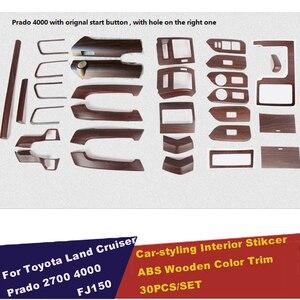 Image 3 - Car Styling Sticker Accessories Interior Moulding Trim For Toyota Land Cruiser Prado 150 LC150 FJ150 2014 2015 2016 2017 30pcs
