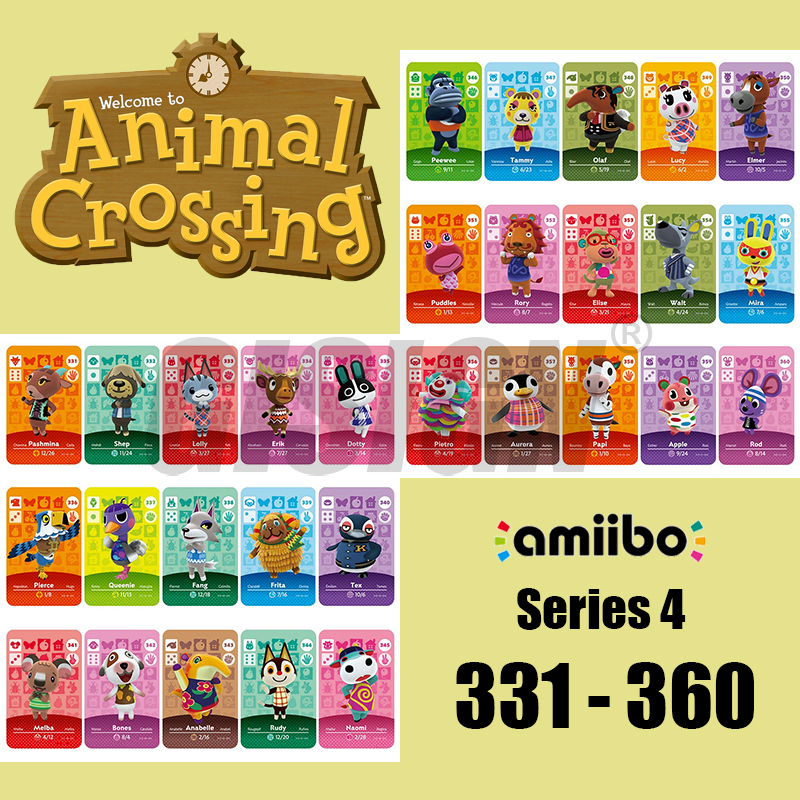 New Horizons Amiibo Animal Crossing Card For NS Switch 3DS Game Marshal Card Set NFC Cards Series 4 (331 To 360) 333 Lolly