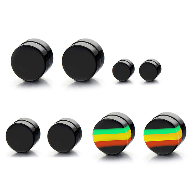 New 1 Pair Man Women Magnetic Earrings No Piercing Simple Acrylic Round Earring SCI88.jpg 640x640 - New 1 Pair Man Women Magnetic Earrings No Piercing Simple Acrylic Round Earring SCI88