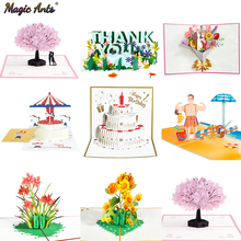 Pop-Up-Cards Birthday-Card Flowers Gifts Wedding-Invitations Cherry-Tree Anniversary