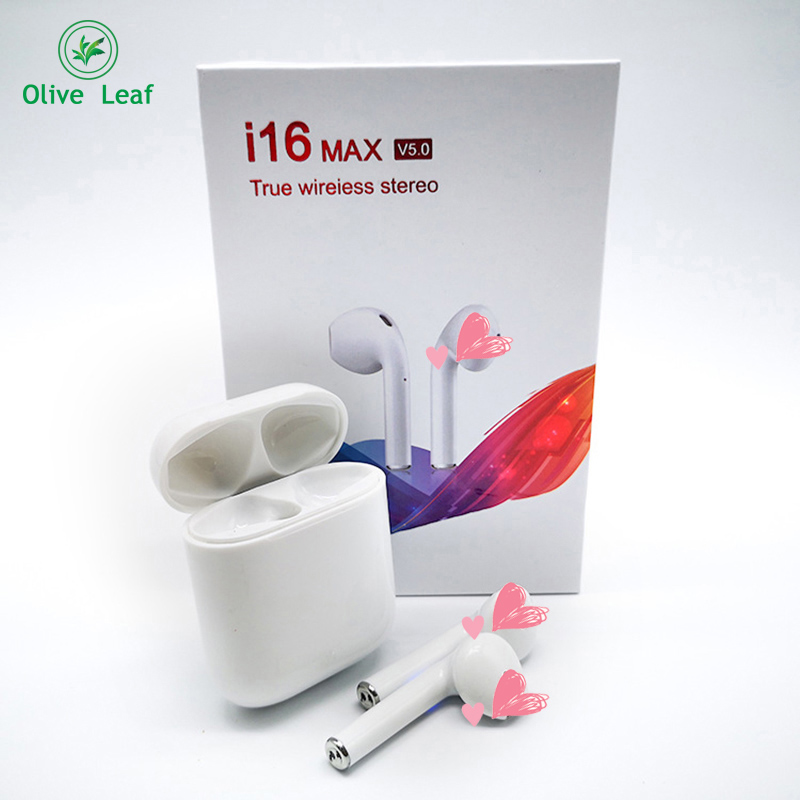 i16-MAX TWS 2019 New Wireless bluetooth 5.0 headset HIFI sound quality Ear phone Waterproof bluetooth earphone IOS/ android image