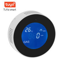 Yobang Security Tuya WiFi Wireless Gas Detector Alarm Sensor Gas Leakage Sensor Natural gas leak detector with APP control