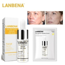 LANBENA Face Mask 24K Gold Six Peptides Serum Anti-Aging Wrinkle Lift Firming Whitening Moisturizing Acne Treatment Skin Care