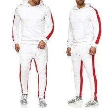 Брендовый спортивный костюм мужское термобелье мужские спортивные комплекты флисовое плотное худи + штаны спортивный костюм Male