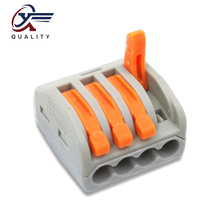 30/50/100 PCS/lot PCT-214 222-214 mini fast wire Connectors Universal Compact Wiring Connector push-in Terminal Block 30 50 100 pcs lot pct 214 color 222 214 mini fast wire connectors universal compact wiring connector push in terminal block