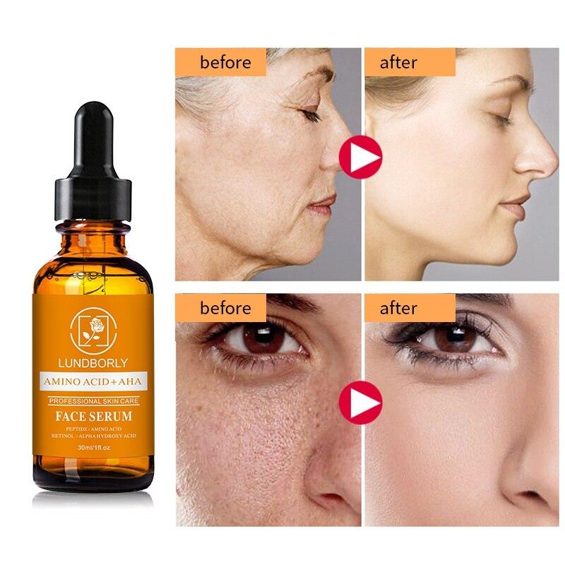 AMINO ACID AHA Serum Hydrating Firming Skin Smooth Fine Lines Brighten Skin Tone Face Serum
