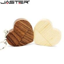 Более 1 шт. логотип бесплатно фивестары купить Usb 2,0 логотип пользовательские деревянные, в форме сердца Usb флэш накопитель 8 г/16 г/32 г/64 г Usb флешка свадебный подарок