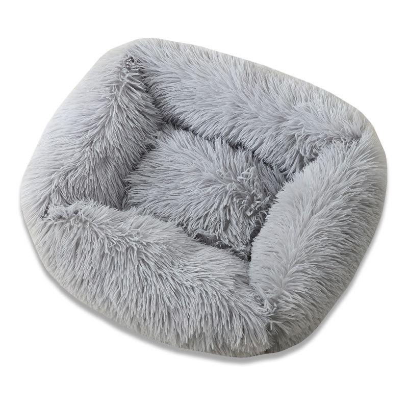 Super Soft Dog Bed House Dog Mat Plush Cat Mat Cats Nest For Large Dogs Bed Labradors House Round Cushion Pet Product Supplies 11