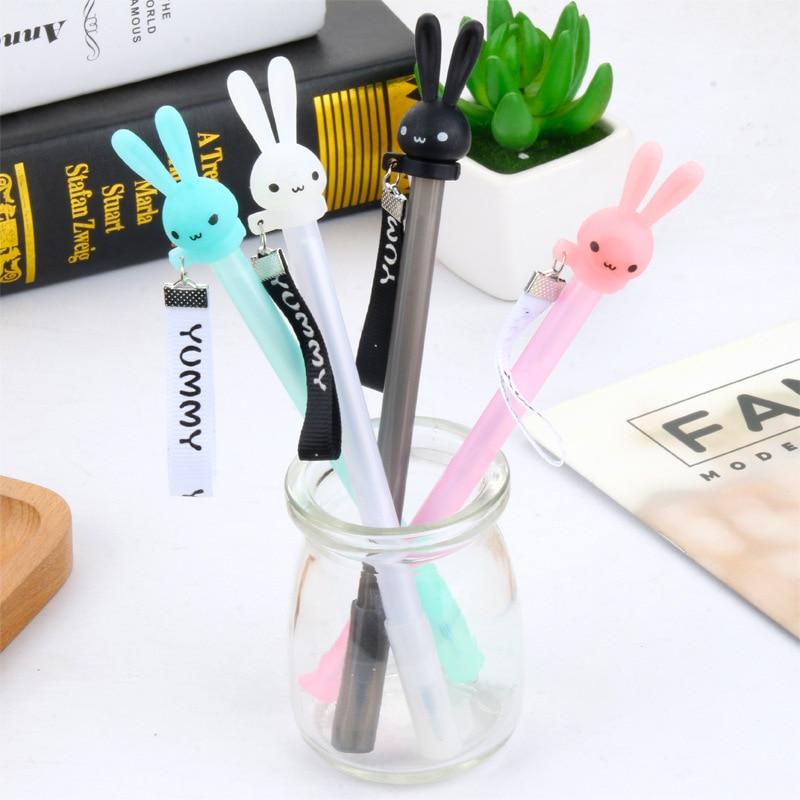 1pcs Easter Party Signature Gel Pen , Bunny  Pen School Office Supplies Rabit Pen