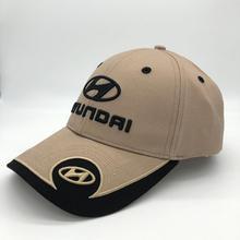 Автомобильная бейсболка с вышитым логотипом hyundai, рекламная Кепка с регулируемым капюшоном для мужчин и женщин
