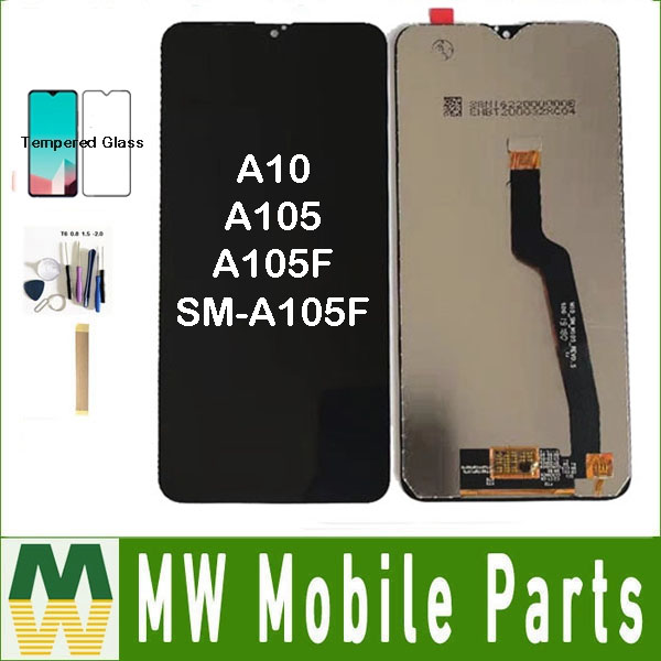 Original For Samsung Galaxy A10 A105 A105F SM-A105F LCD Display Touch Sensor Screen Glass Assembly Black COlor + Kit image