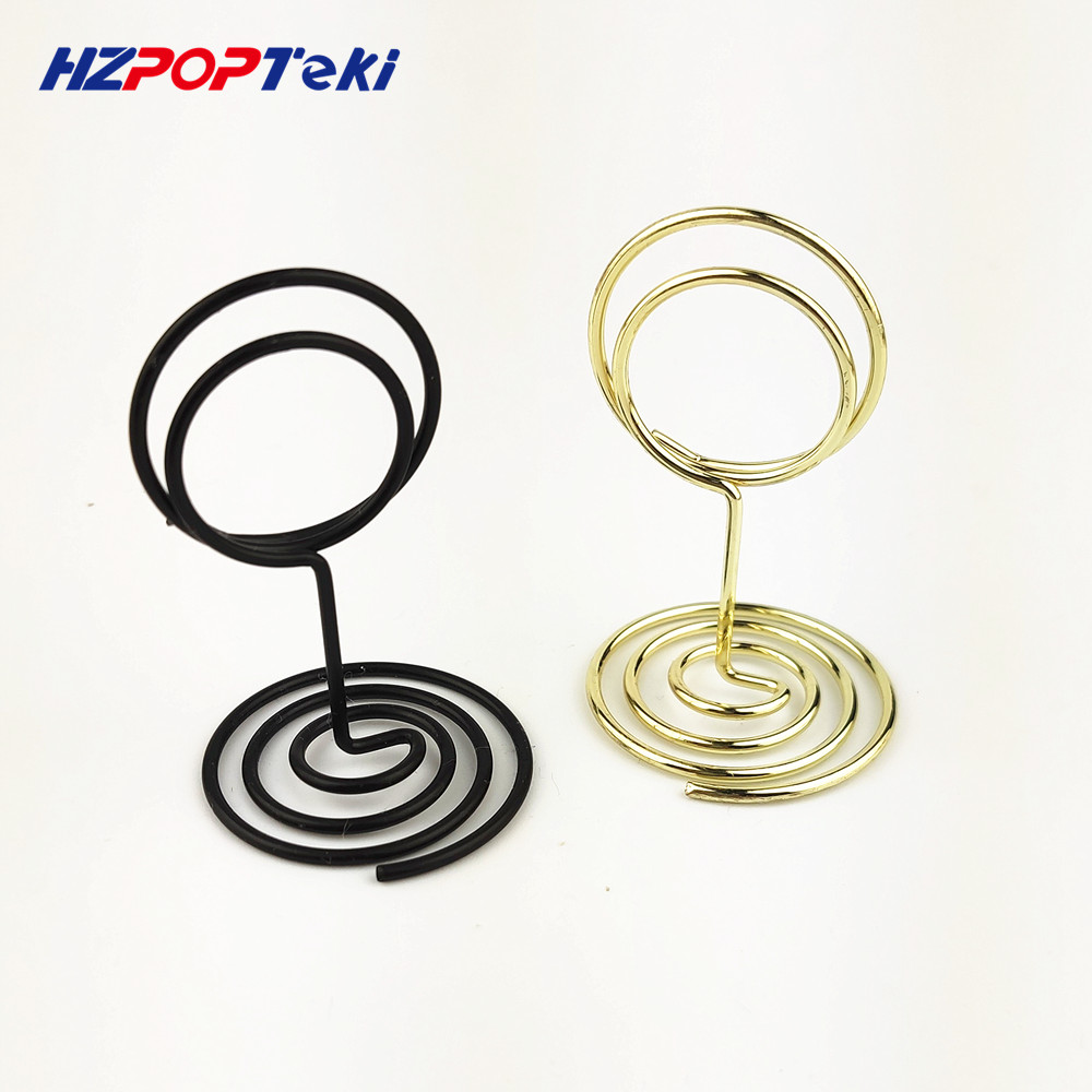 Mini Metal POP Sign Signage Price Paper Card Promotion Display Label Small Memo Clips Holders Wire Winding Type  In Shop 100pcs