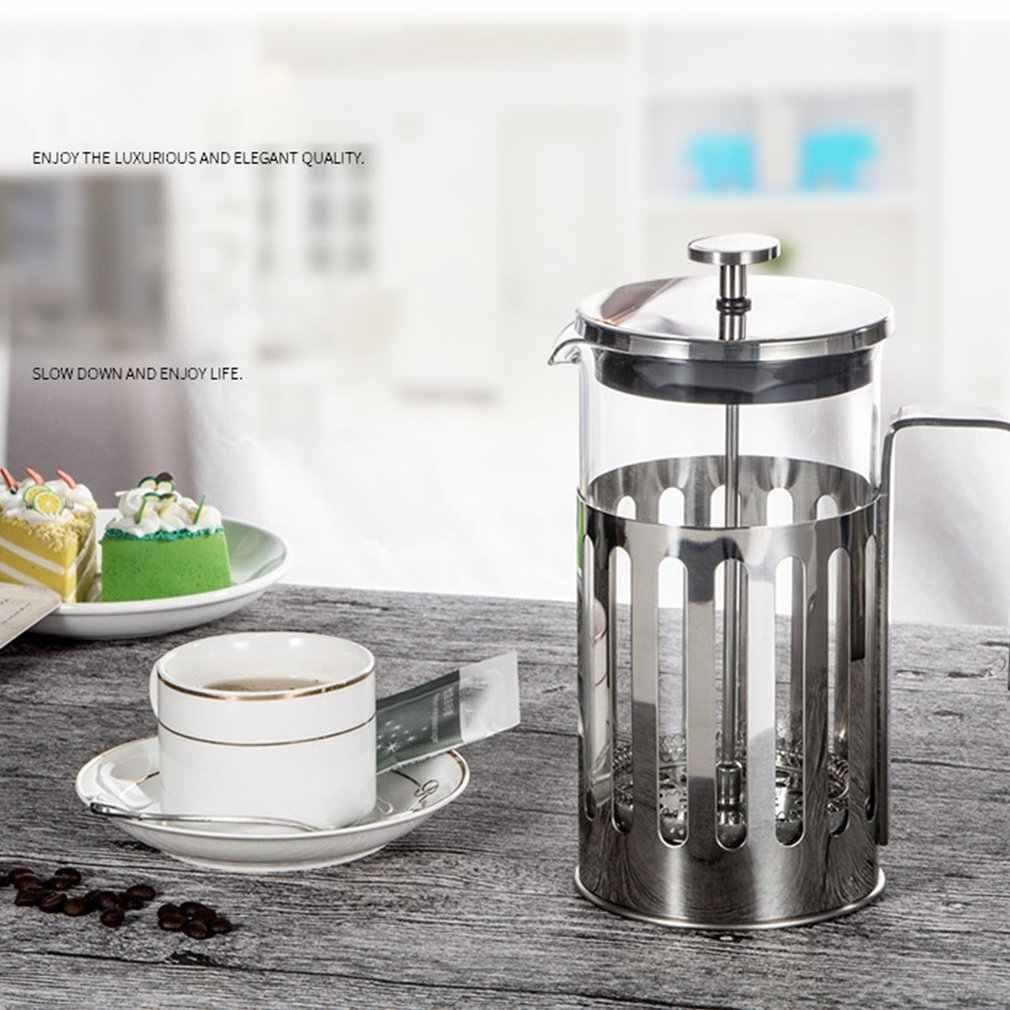In Acciaio Inox Francese Presse Macchina per Il Caffè Caffettiera Caffettiera Strumento di Caffè Isolati Tè Birra Teiera con Filtro Cestini