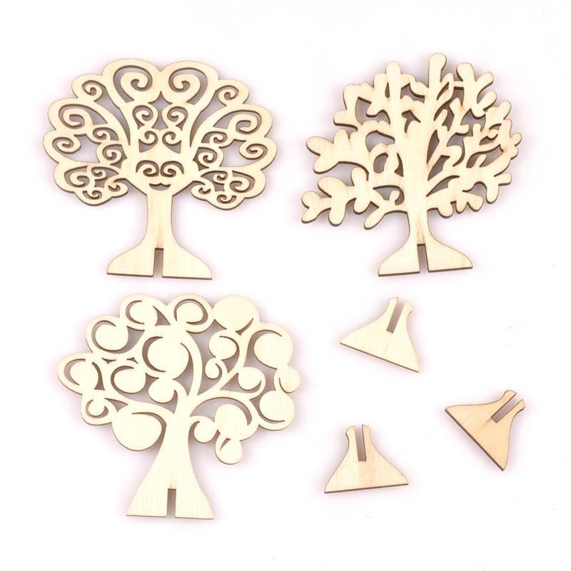 3 шт. Дерево Узор натуральное дерево Carft самостоятельные diy Аксессуары украшение для дома 80 мм MT2590