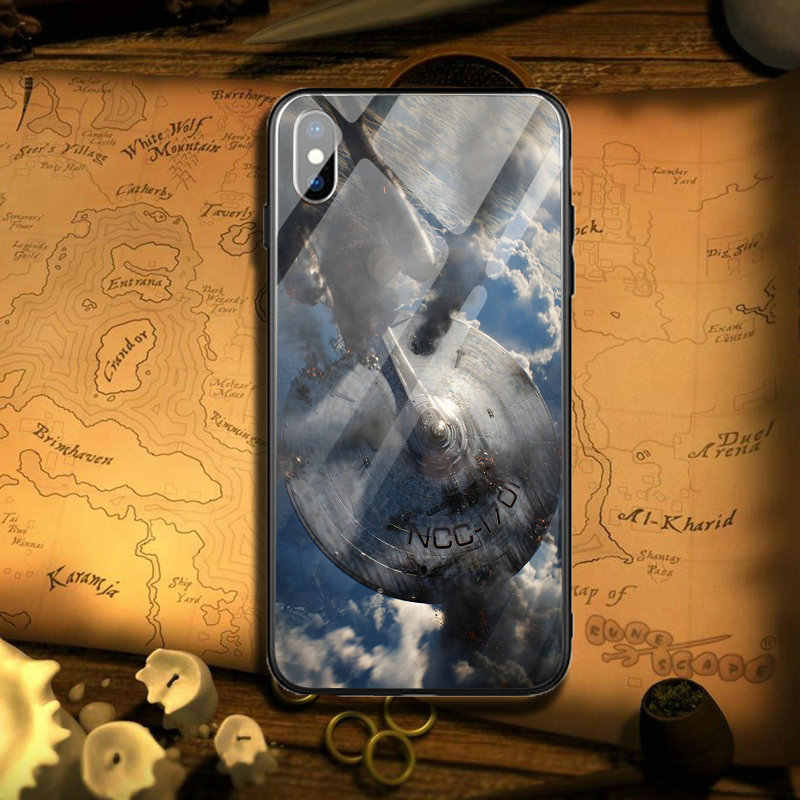 Tempered Glass Mobile Phone Cases Cover for iPhone 5 5S SE X XR XS Max 10 7 8 Plus Coque Bags Star Trek Into Darkness