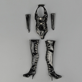 """1/6 Scale ZY5009 Female Leather Underwear Clothing Women Sexy Erotic Underwear Clothes For 12"""" Action Figures Body Doll Toy"""
