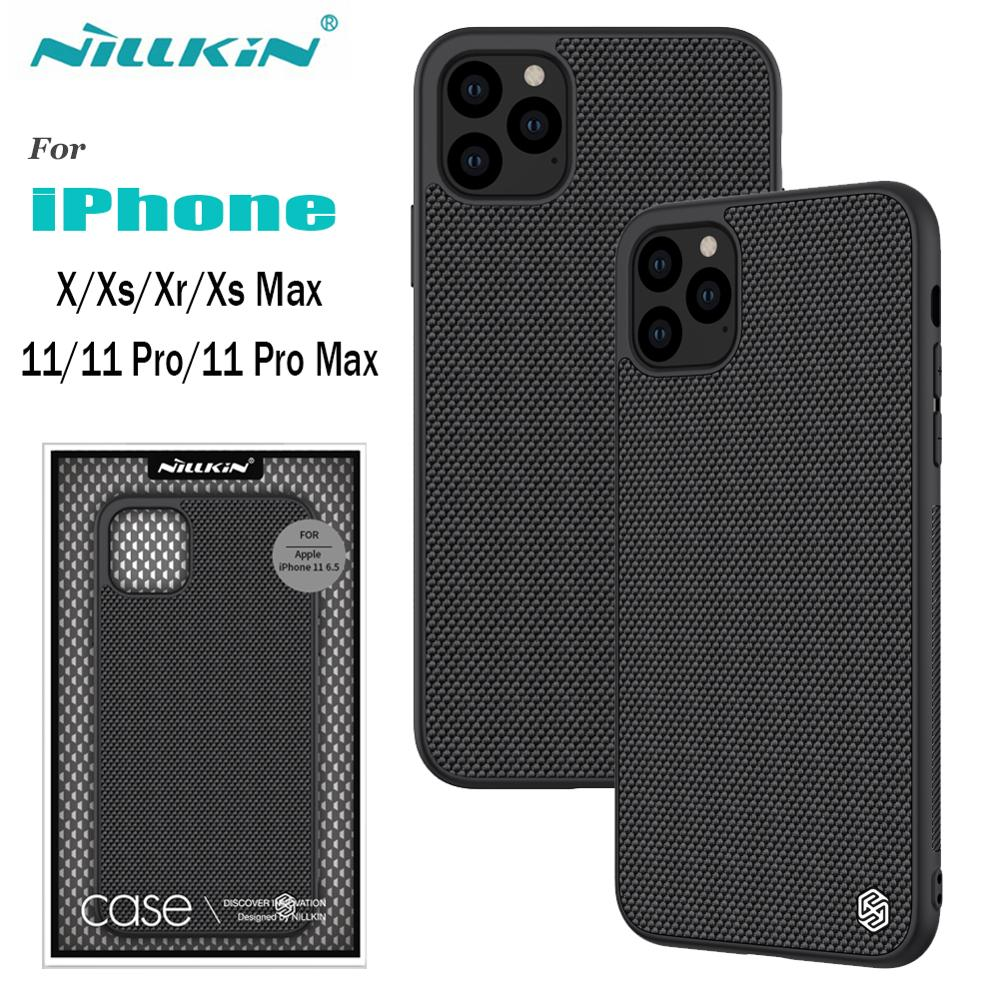 for iPhone 11 Xr Case NILLKIN Textured Nylon Fiber Case for iPhone 11 Pro Max Durable Non-slip Back Case for iPhone X Xs Max Bag