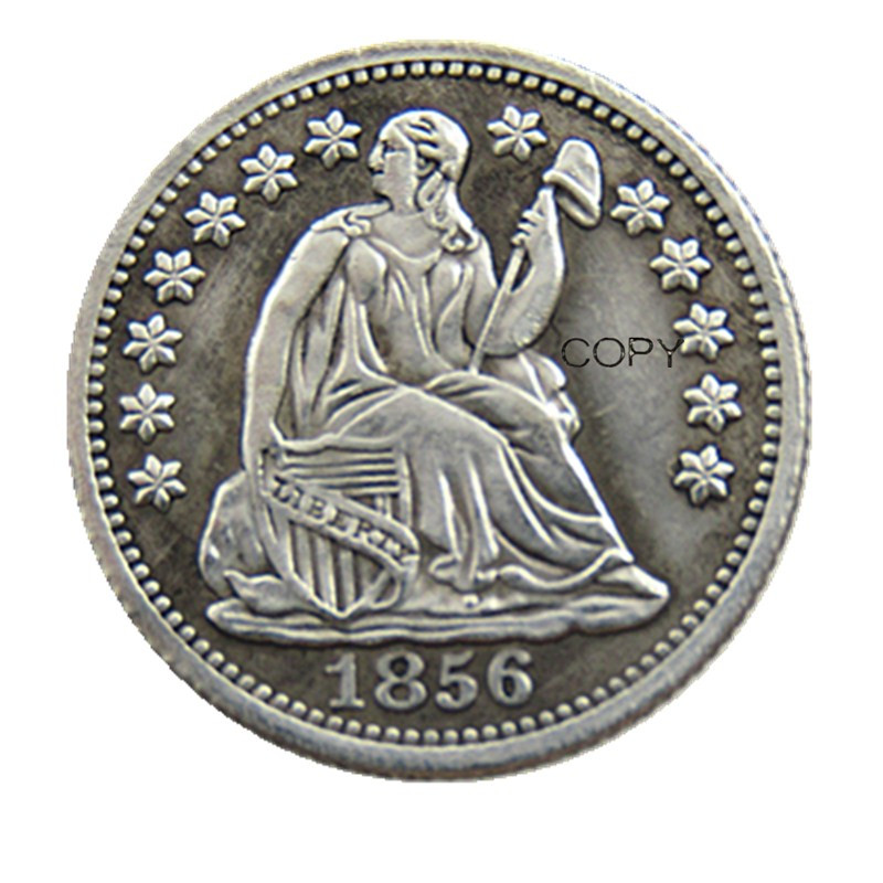 USA 1856P/O Liberty Seated Half Dime Stars on Obverse Copy Coins